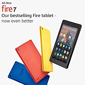 "All-New Fire 7 Tablet with Alexa, 7"" Display, 8 GB, Black — with Special Offers"