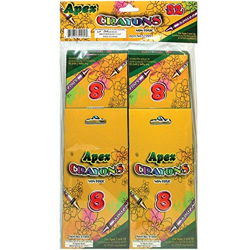Crayons 8ct. 4pk. Boxed, Case Pack of 48, Ideal for Bulk Buyers