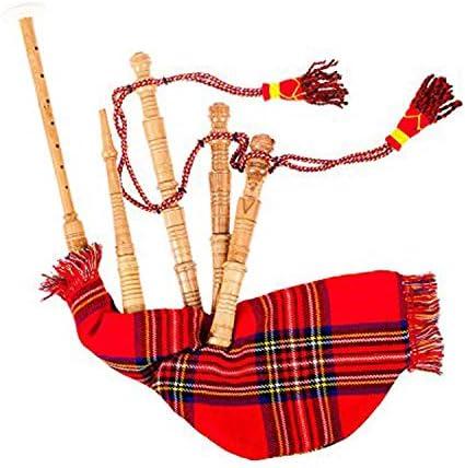New Scottish Junior Playable Royal Stewart Tartan Bagpipes Toy / New Scottish Junior Playable Royal Stewart Tartan Bagpipes Toy