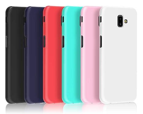 VGUARD 6 x Funda para Samsung Galaxy J6 Plus 2018 / J6+ 2018, Ultra Fina Carcasa Silicona TPU de Alta Resistencia y Flexibilidad (Negro, Azul Oscuro, ...