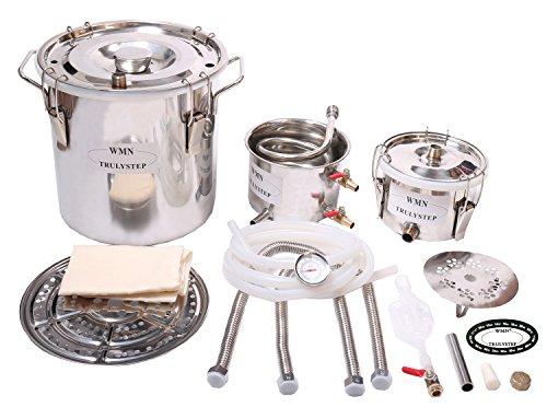 New 3 Pots DIY 3 Gal 12 Litres Alcohol Moonshine Ethanol Still Spirits Stainless Steel Boiler Water Distiller Whiskey Wine Making Kit by WMN_TRULYSTEP (Image #3)