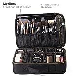 portable ROWNYEON Portable EVA Professional Make up Case Makeup Artist Case Makeup Train Case Make Up Artist Organizer Bag 14.1