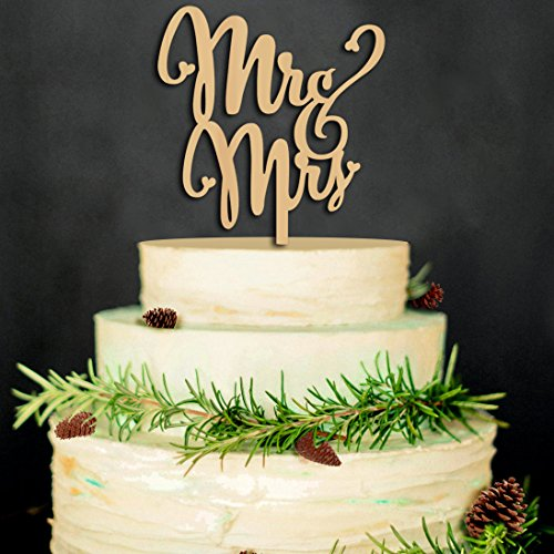 (Mr and Mrs Cake Toppers Rustic Wood Wedding Aniversary Party Engagement)