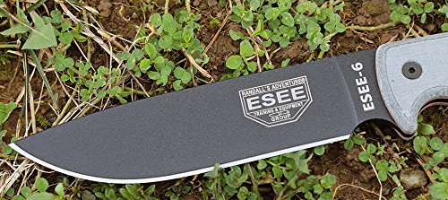 ESEE-6P-B-Plain-Edge-Fixed-Blade-Survival-Knife-with-Grey-Micarta-Handle