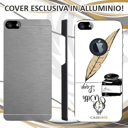 CUSTODIA COVER CASE CASEONE LETTERA AMORE PER IPHONE 5 5S IN ALLUMINIO