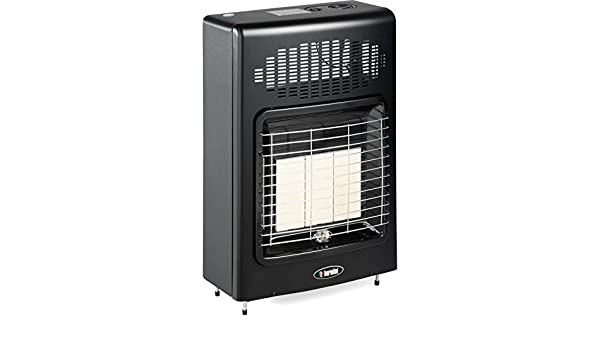 Estufa a Gas Metano Ventilata Bartolini metano Black Turbo pared o suelo 4200 W 120 m3: Amazon.es: Hogar