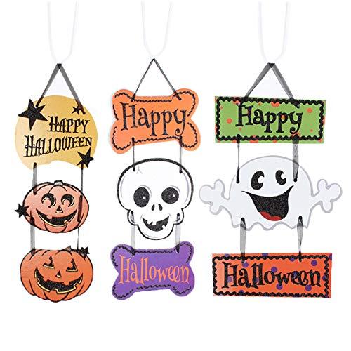 Door Storage - Halloween Decoration Hanging Hang Tag Window Door Decor Pumpkin Ghost Skull Strips Tb - Hook Suitcase Screw Hang Decor License Party Decorations Anime Halloween Travel Wall -