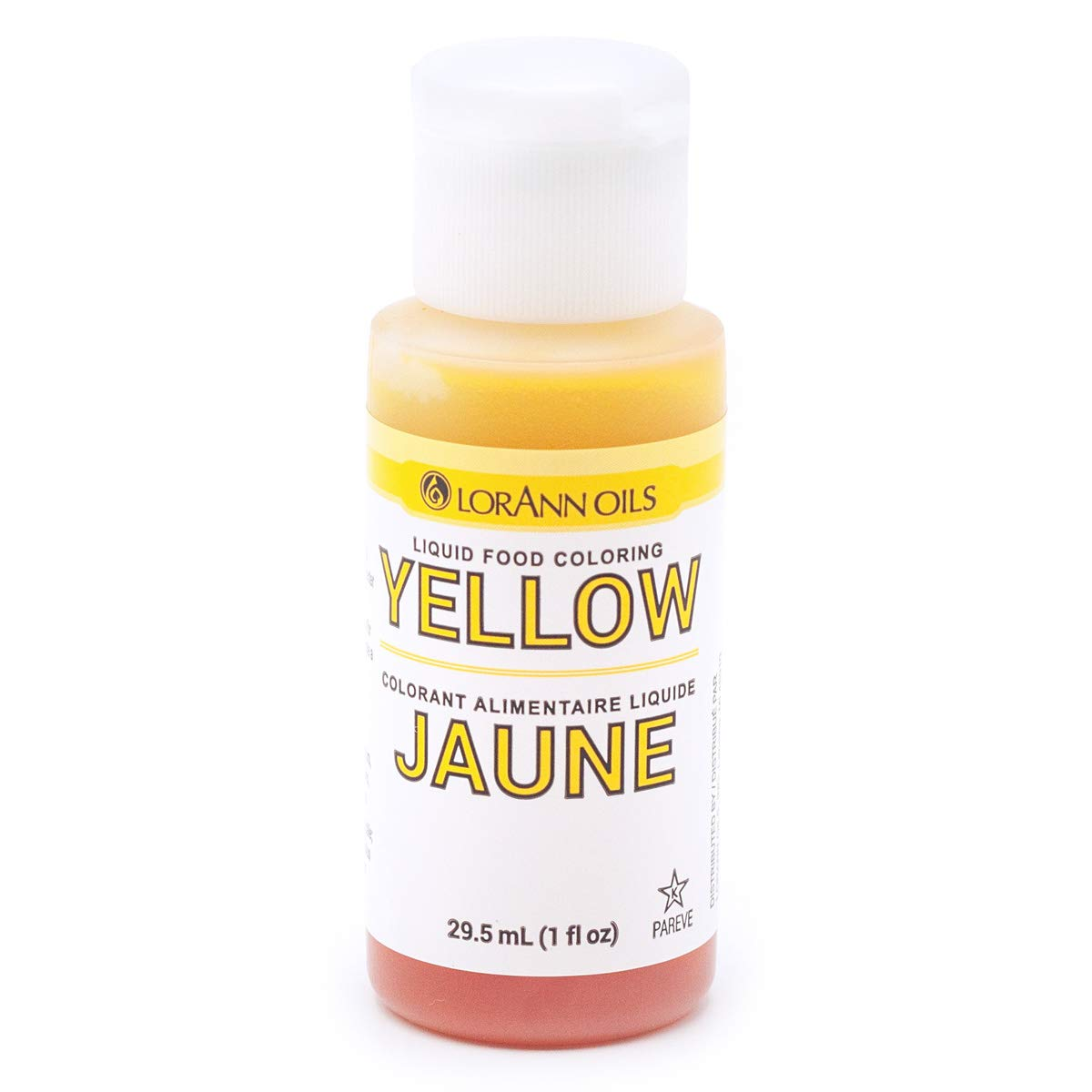 LorAnn Yellow Liquid Food Coloring, 1 ounce bottle