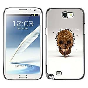 Shell-Star Art & Design plastique dur Coque de protection rigide pour Cas Case pour SAMSUNG Galaxy Note 2 II / N7100 ( Honey Bee Gold Skull Bronze Grey )