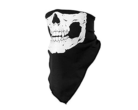Cdet Mascara facial bicicleta esquí cráneo media máscara máscara fantasma bufanda multi uso cuello calentador