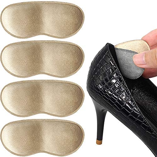 Details about  /Anti Slip Leather Heel Grips for Loose Shoes and Boots Heel Protectors Unisize