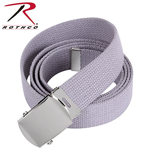 Rothco Plus Military Web Belt, Chrome-Grey, 44''
