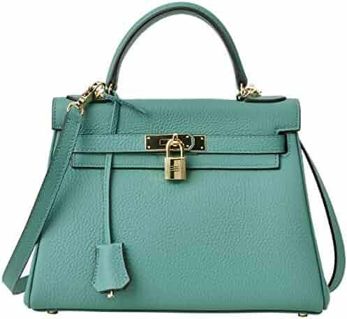 ac9ddbdd4170 Cherish Kiss Women s Top Handle Satchel Handbag Cross Body Shoulder Padlock  Handbags