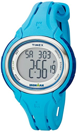 Timex Women's TW5K906009J Ironman Sleek 50 Pool Blue Silicone Strap Watch