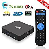 TV Box Android 7.1 3GB RAM 16GB ROM, U2C X Turbo Android Box Amlogic Octa Core 64 Bits Support Bluetooth 4.1 4K 3D H.265 Dual Band WiFi 2.4GHz/5GHz