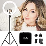 Ring Light 19 inch, Bi-Color Dimmable Selfie Ring Light Kit with 2m Stand and Selfie Remote, LED Ring Light Lighting Kit for Phone, Vlog, Makeup, YouTube, Camera, Portrait Video Shooting CRI≥97 55W