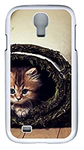 samsung galaxy s4 case,custom samsung galaxy s4 i9500 case,TPU Material,Drop Protection,Shock Absorbent,Customize your own cell phone case pattern,white case,Carpet cat