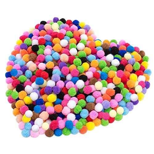 - Cosweet 500pcs 1 Inch Art Pom Poms Assorted Colorful Pom Poms for DIY Creative Crafts Decorations,Kids Craft Project, Home Party Holiday Decorations