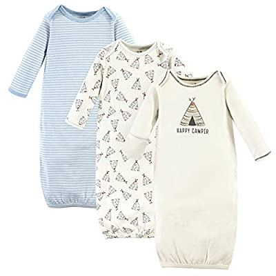 Touched by Nature Baby 3-Pack Organic Cotton Gown