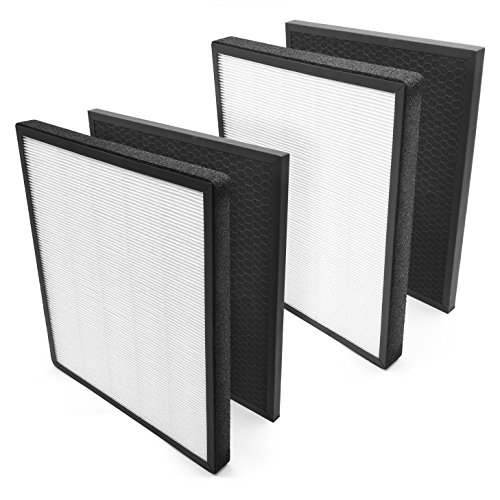 - LEVOIT Air Purifier LV-PUR131 Replacement Filter True HEPA & Activated Carbon Filters Set, LV-PUR131-RF , (2 Pack)