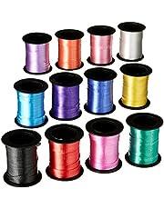 Fun Express Assorted Curling Ribbon Rolls - 60 Feet Per Roll - 12 Rolls