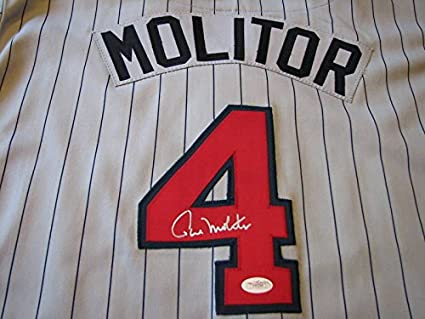 best website 340d3 a9321 PAUL MOLITOR Signed Game Style Twins Home or Road Baseball ...