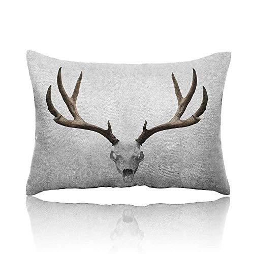 Anyangeight Antlers Cool Pillowcase A Deer Skull Skeleton Head Bone Halloween Weathered Hunter Collection Long Pillowcase 14