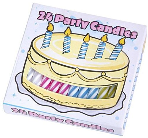DDI 1933878 Case Lot Quality Birthday Candles, 24 Count