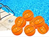 PlayO Inflatable Basketballs - 16 inch Beach Balls - 1 Dozen