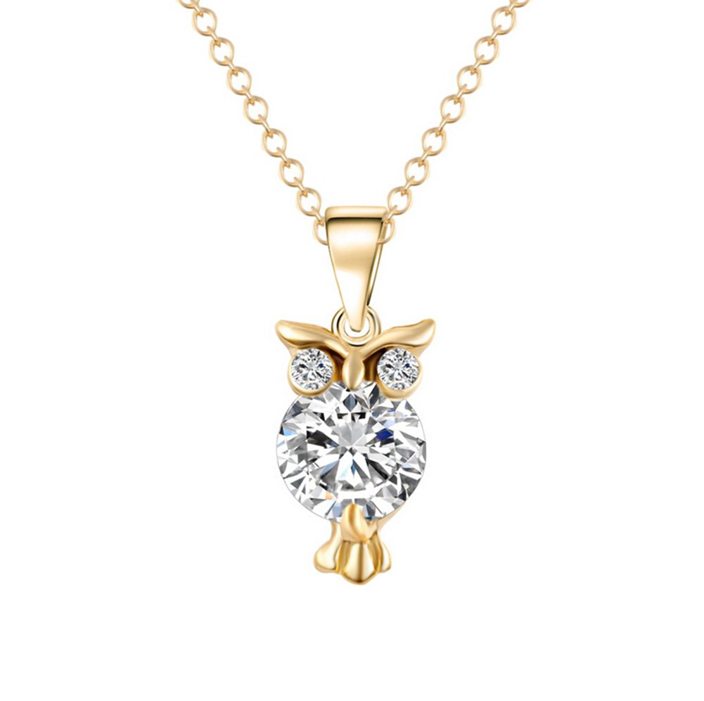 Hosaire 1 pcs Halskette Mode Eulen-Form Schmuck Anhänger Necklace Schlüsselbein Kette