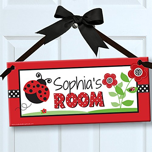 Little Ladybugs Personalized Kids Door/Wall Sign, Room Décor