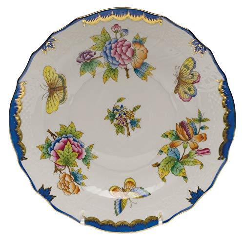 - Herend Queen Victoria Blue Porcelain Salad Plate