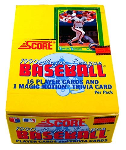 1990 Score Baseball Cards Box (36 packs)