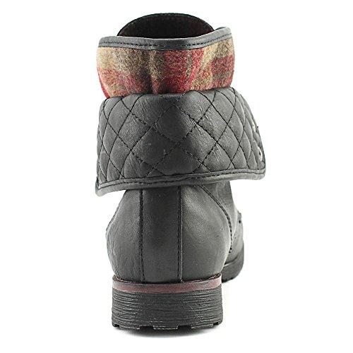 Rock Candy Frauen Spraypaint-Q Geschlossener Zeh Fashion Stiefel Schwarz Groesse 6.5 US/37.5 EU