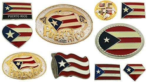 10 Pieces Wholesale Lot Belt Buckles Puerto Rico Us Flag Metal Fashion Western