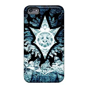 Scratch Protection Hard Phone Cases For Iphone 6 With Unique Design HD In Flames Band Pattern JonBradica