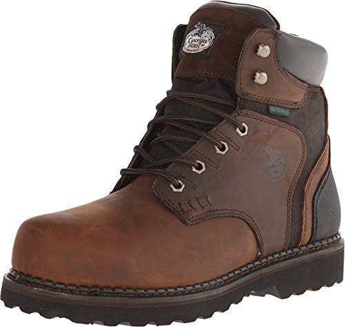 Georgia Boot Men's Brookville 6 Inch Work Shoe, Dark Brown, 10 M US by Georgia