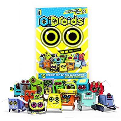 OiDroids Nuts 'n' Bolts Crew Set 1 - Pack of 15 Papercraft Robot Cards