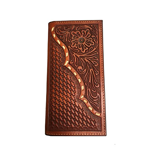 Twisted X Wallet, Rodeo, Leather, Basket/Floral, Rawhide Lace