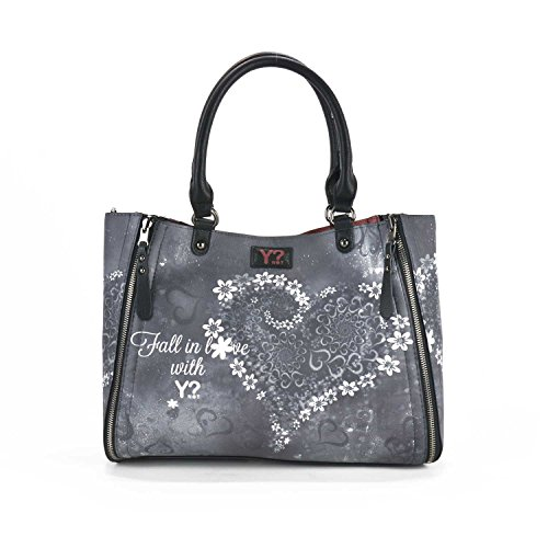 BORSA YNOT HANDBAG REVERSIBILE SIDE MEDIUM K45 GREY