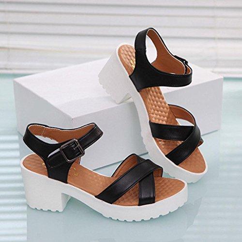 Vovotrade® romains noir Sandals bouts pour à Tongs femmes Chaussures pour dames d'été Z1xw4aZRq