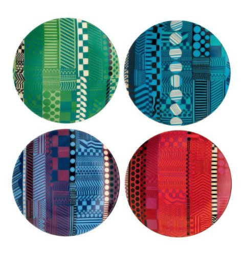 Royal Doulton Paolozzi Fine Bone China Accent Tidbit Plates Set/4 Mixed (Fine Bone China Doulton Royal)