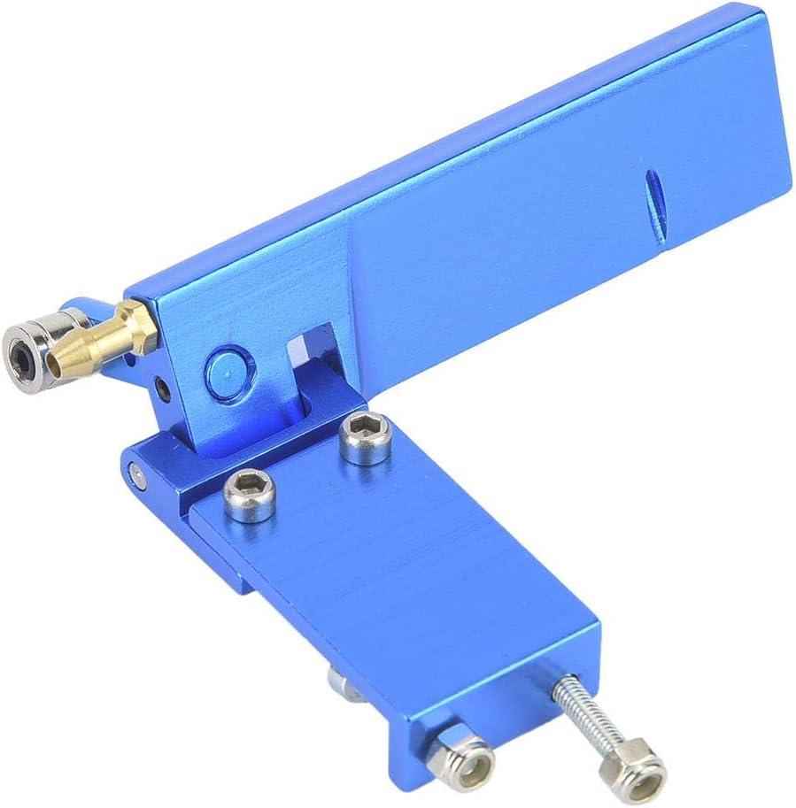 Dilwe Timón de Barco RC, Timón de Aluminio con Recogida de Agua para Control Remoto Electrico / Metanol Modelo de Barco(Azul, 95mm)
