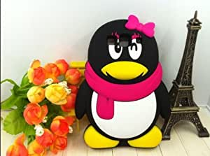 Lovely Penguin Girl 3D Cartoon Soft Shell Color Case for Samsung Galaxy S3 i9300