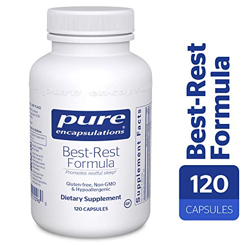 Pure Encapsulations - Best-Rest Formula - Hypoallergenic Supplement for Restful Sleep* - 120 (Best Rest Supplements)