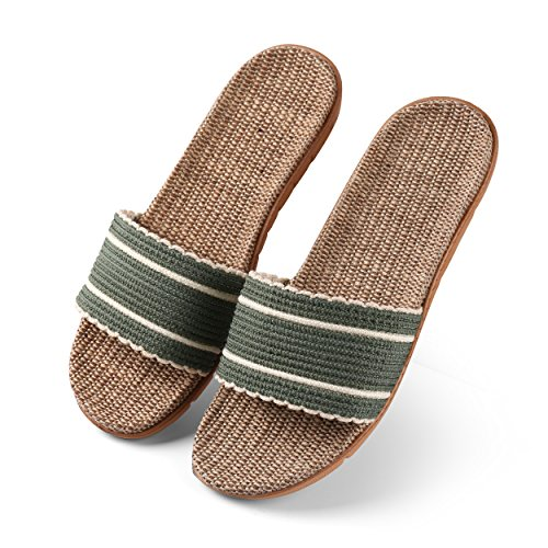 Aerusi Womans Timeless Flax Sandals Sage Green