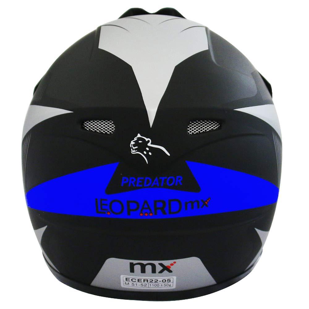 51-52cm ECE Genehmigt Crosshelm Kinderquad Off Road Enduro Sport Brille} Orange M Handschuhe Leopard LEO-X19 Kinder Motocross MX Helm { Motorradhelm