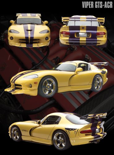 Dodge Viper Yellow GTS-ACR Sports Car Photography Hobby Poster Print 16x20 ()