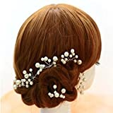 Rrimin Wedding Bridal bridesmaid Pearl Flower Headpiece Hair Pin Hairpin Faux Pearl Pin