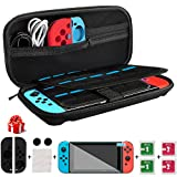 Nintendo Switch Case, kungfuren Switch Case with 29 Game Cartridges, Premium  Protective Hard Shell Travel Carrying Case Pouch for Nintendo Switch Console & Accessories BLACK
